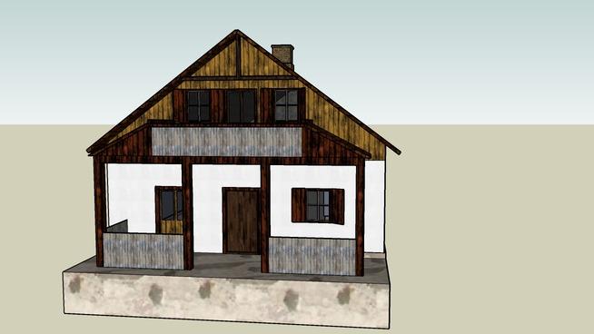 wooden house flis