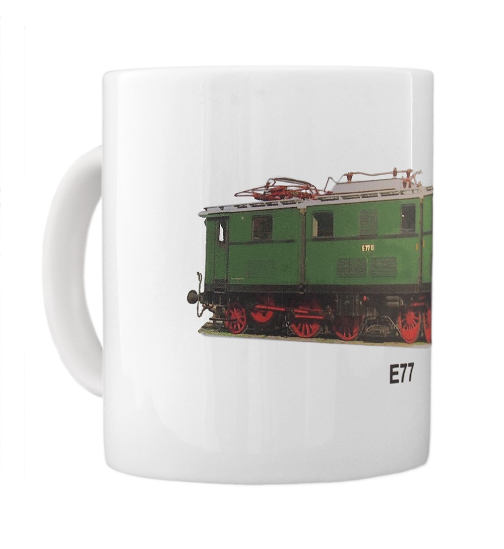 engine E77 mug left view