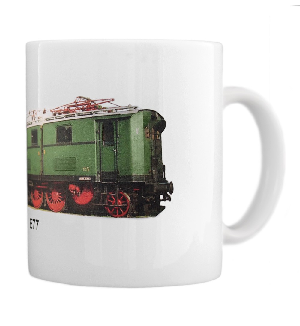 engine E77 mug right view
