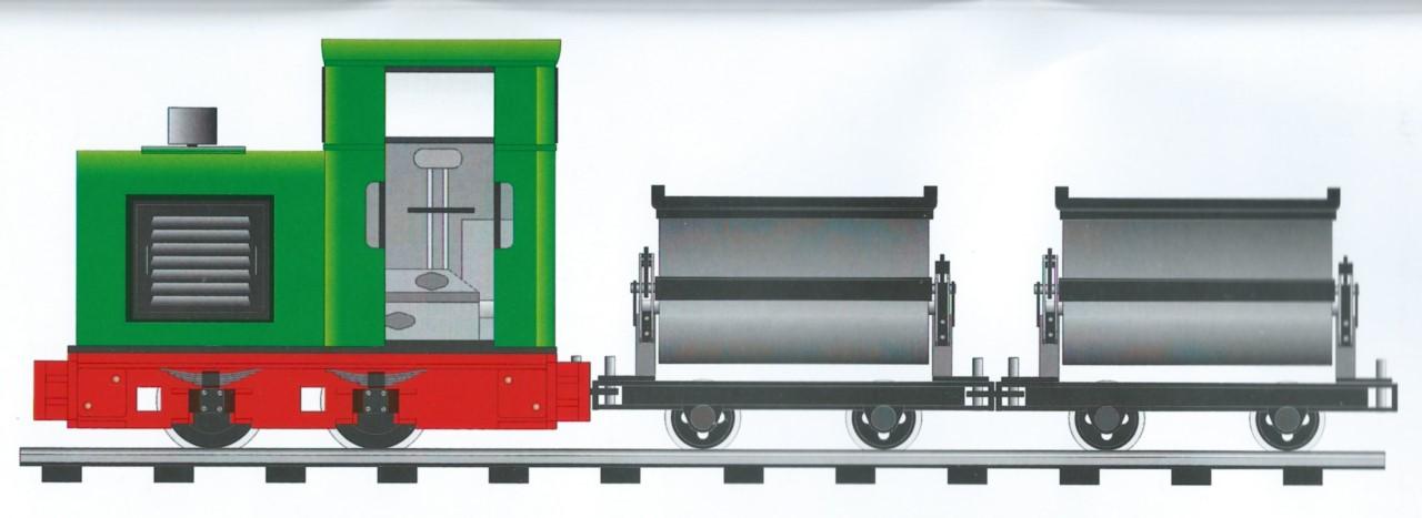 industrial narrow gauge locomotive