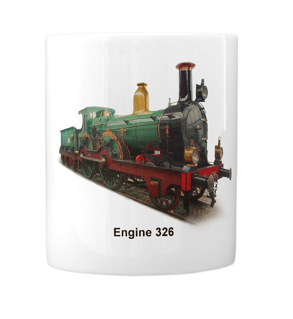 engine 326 mug front view