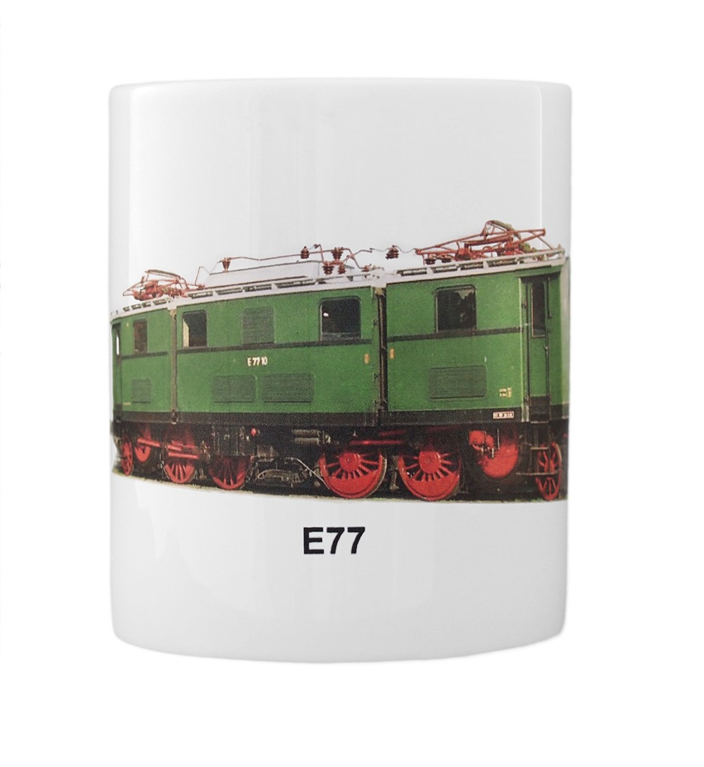engine E77 mug front view
