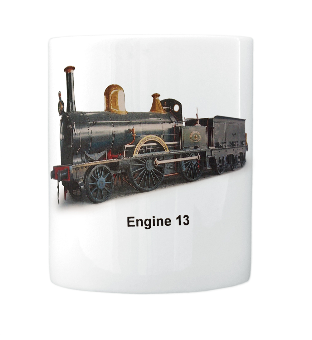 engine 13 mug front view