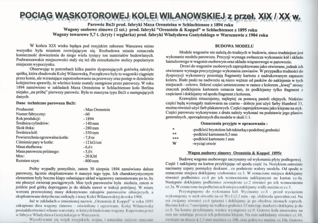 narrow gauge engine wilanowska text instructions
